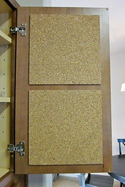 painel de cortiça portas